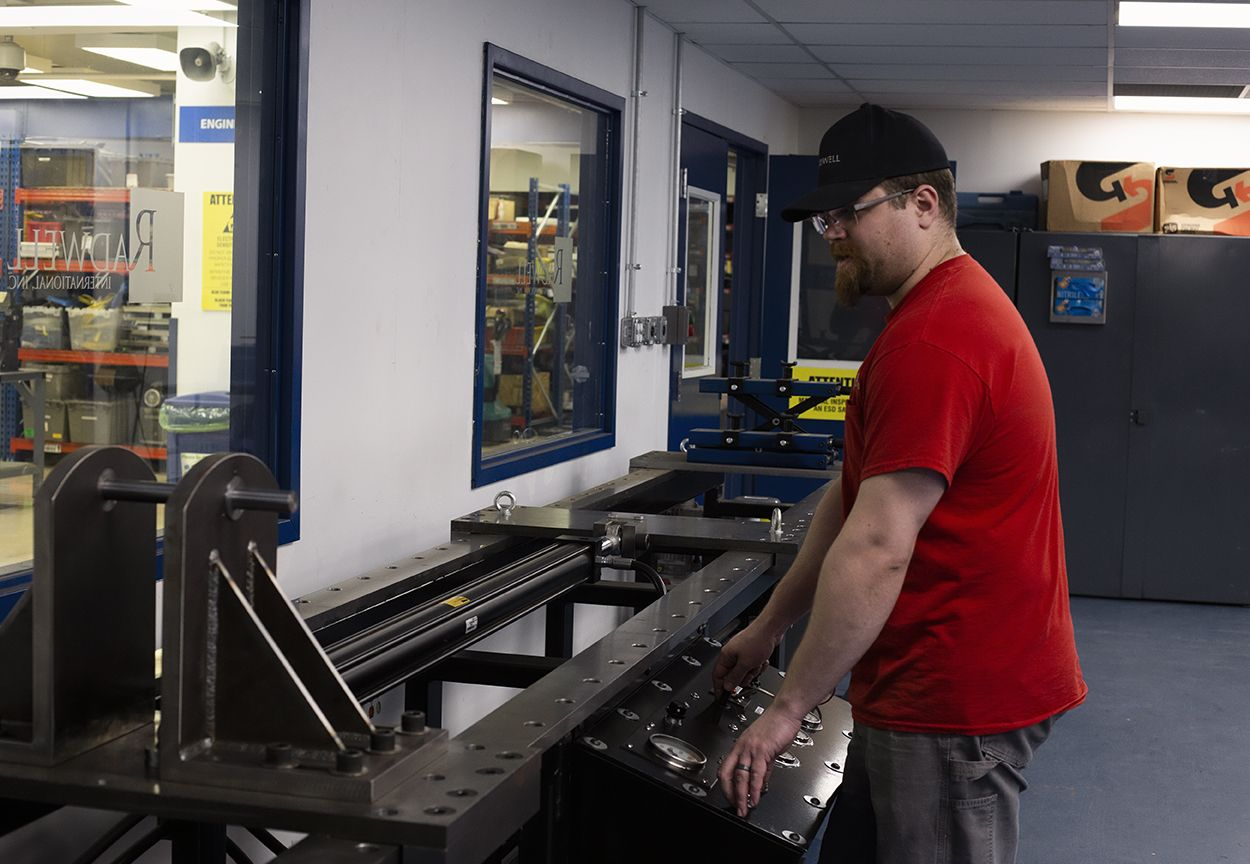 Chris is hard at work in our Hydraulics shop at Radwell