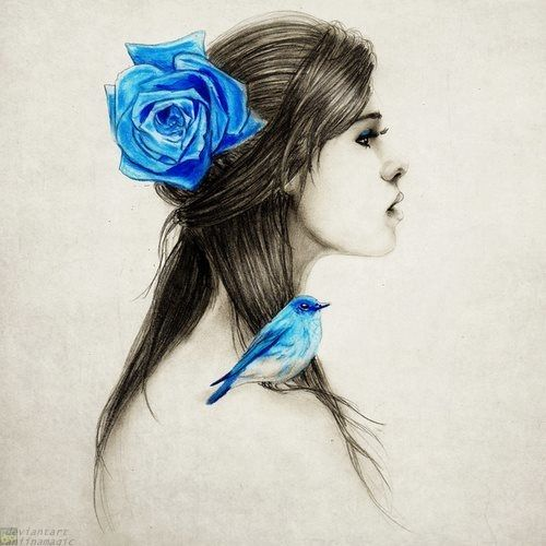 Girl Blue by vaniinamagic