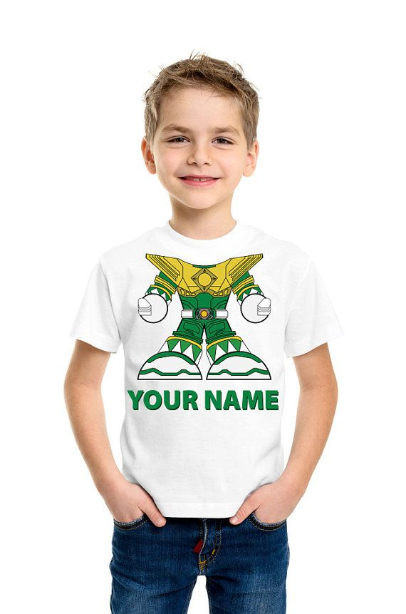Personalized Boys Shirt Green Power Ranger For by HeadlessShirts