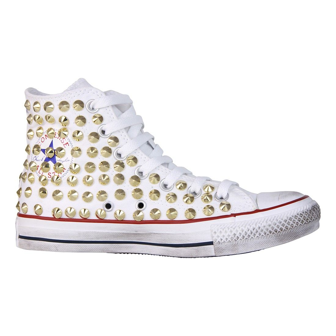 converse donna gialle borchie