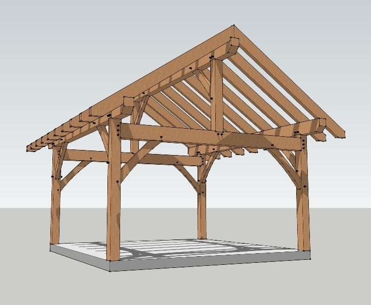 Do It Yourself Home Design: 16x16 Timber Frame Plan