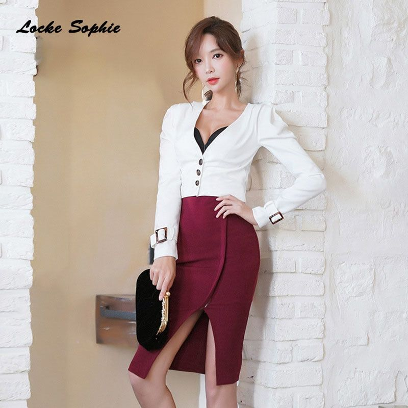 b9a787cc0628f 2 piece set women tracksuits twinset tops and skirts 2019 Spring ...