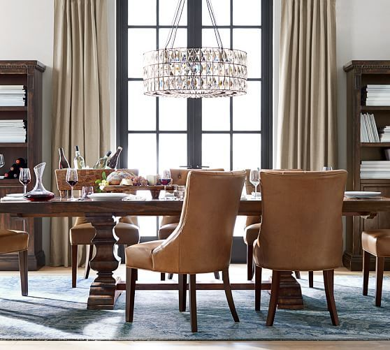 Adeline Crystal Chandelier Dining Side Chairs Dining Chairs
