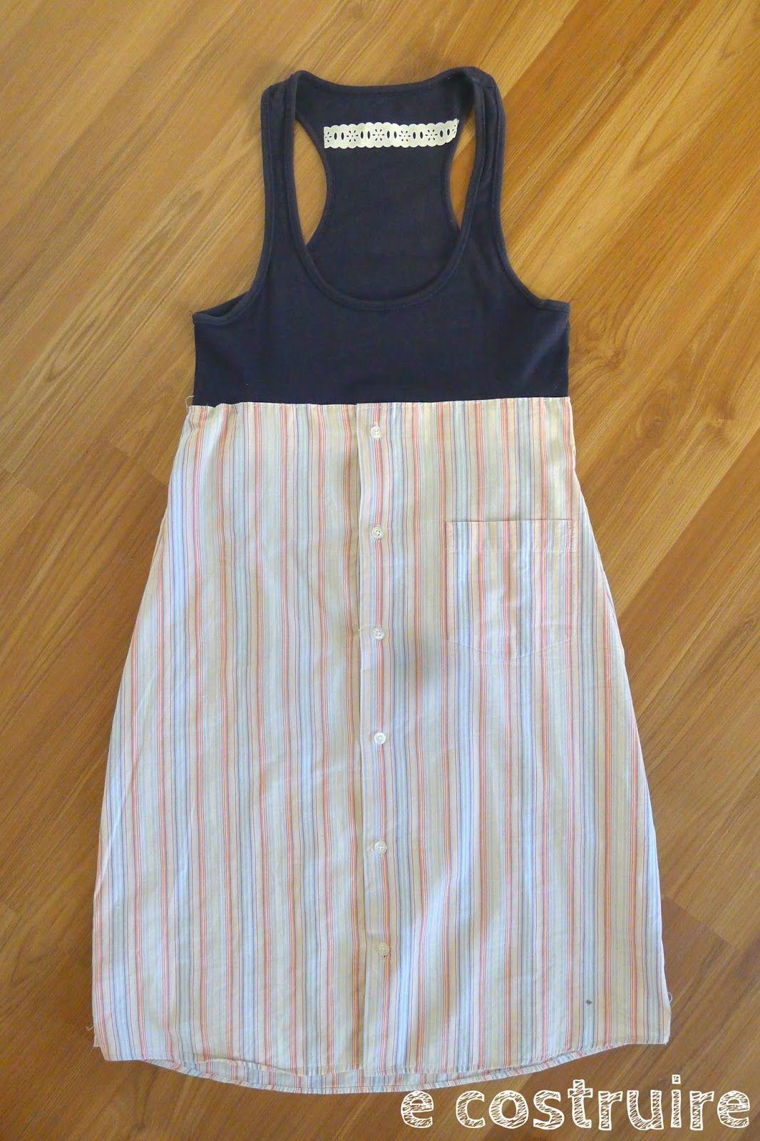 E COSTRUIRE: Come trasformare una camicia da uomo in un vestito