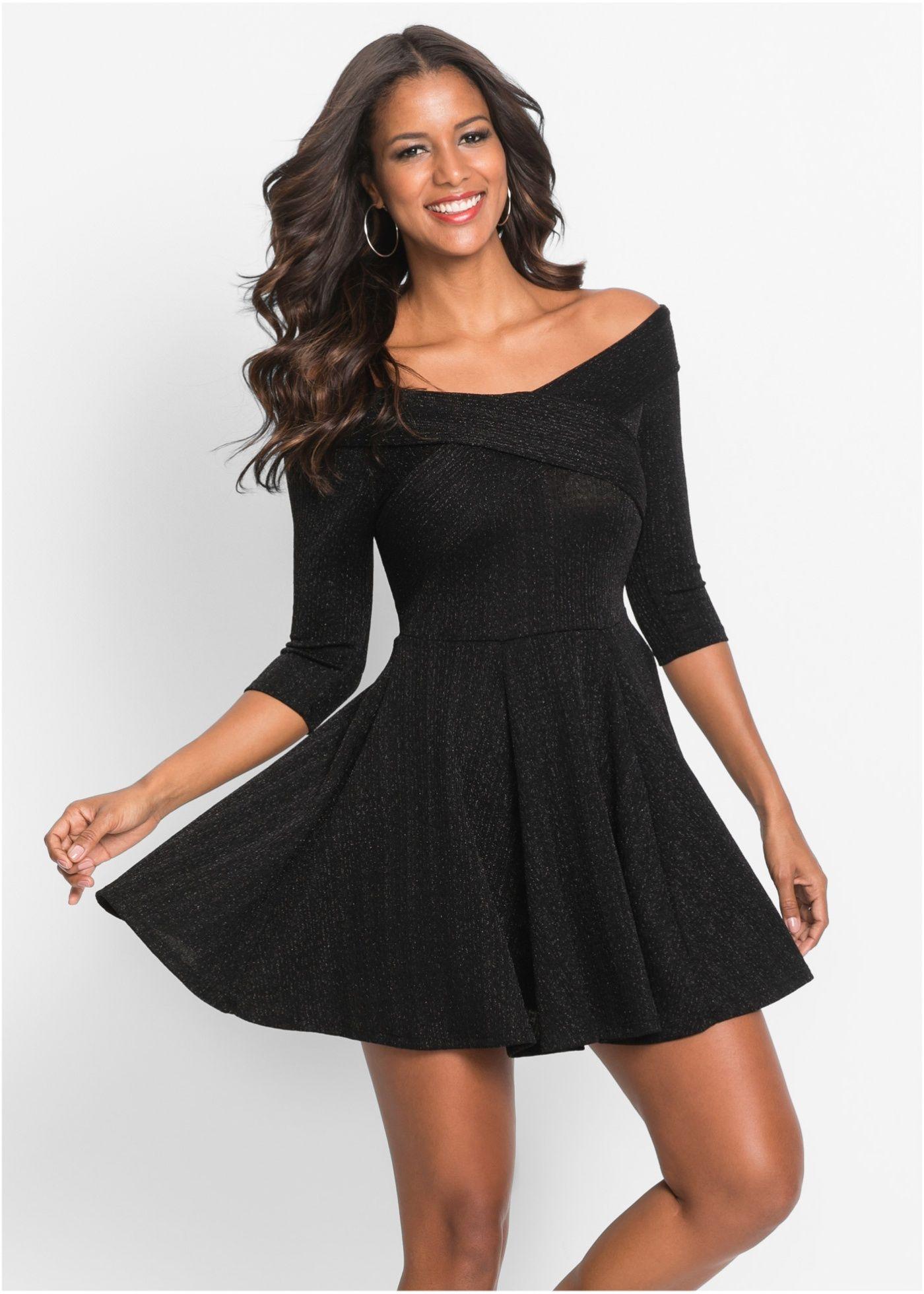 Kleid mit glitzer schwarz