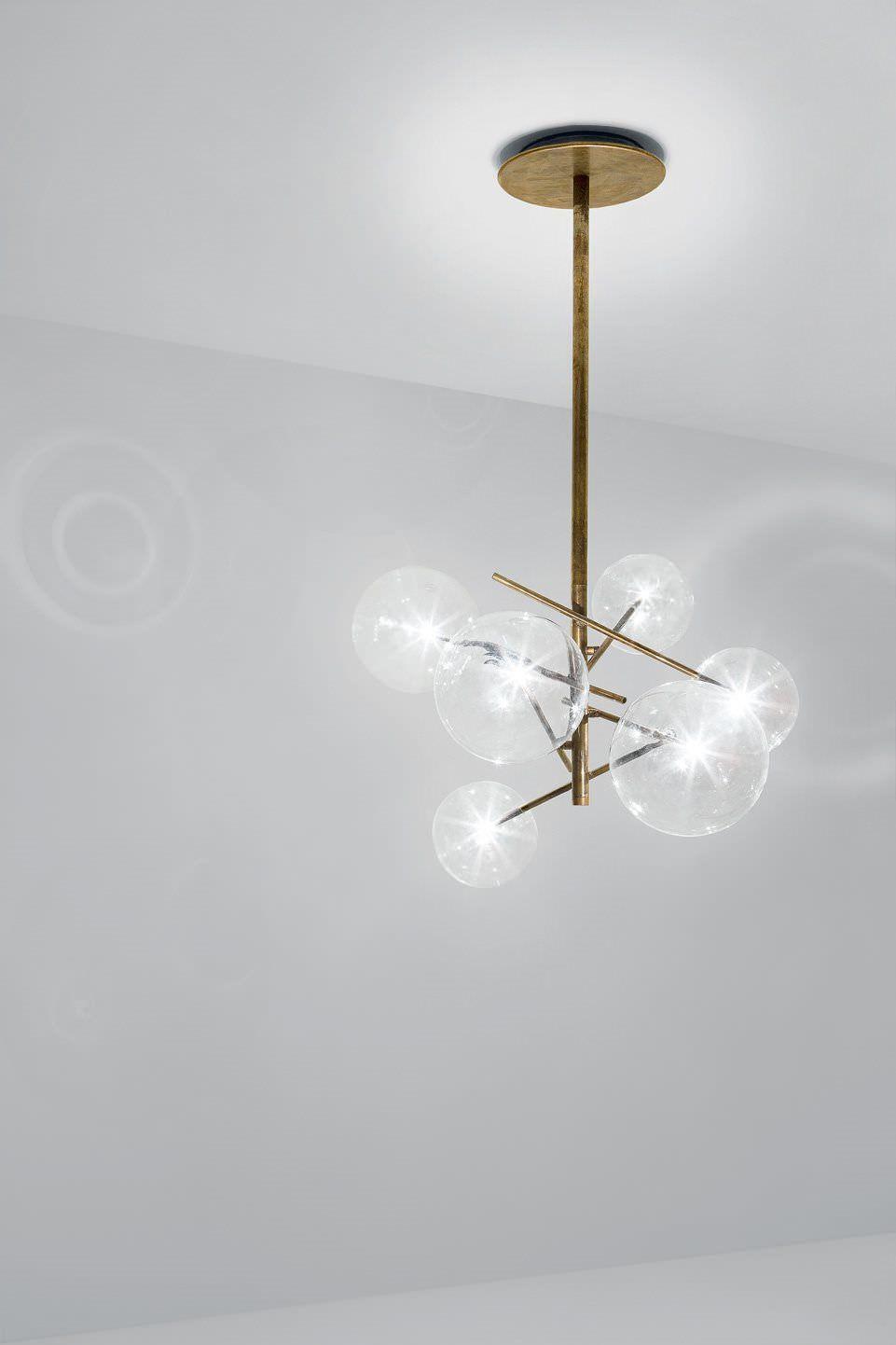 Lampadario moderno / in vetro / in ottone / in vetro soffiato BOLLE ...