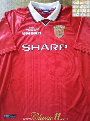 1999 00 Man Utd Home European Football Shirt Xl Football Shirts Champions League Football Football