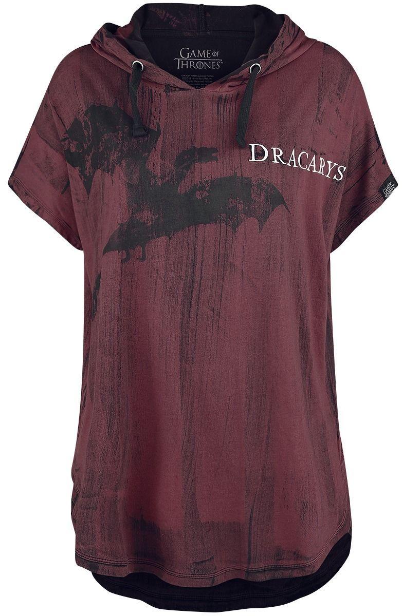 online store 80d09 ee200 Game Of Thrones Dracarys! Girl Shirt dunkelrot shirts fashion damenmode