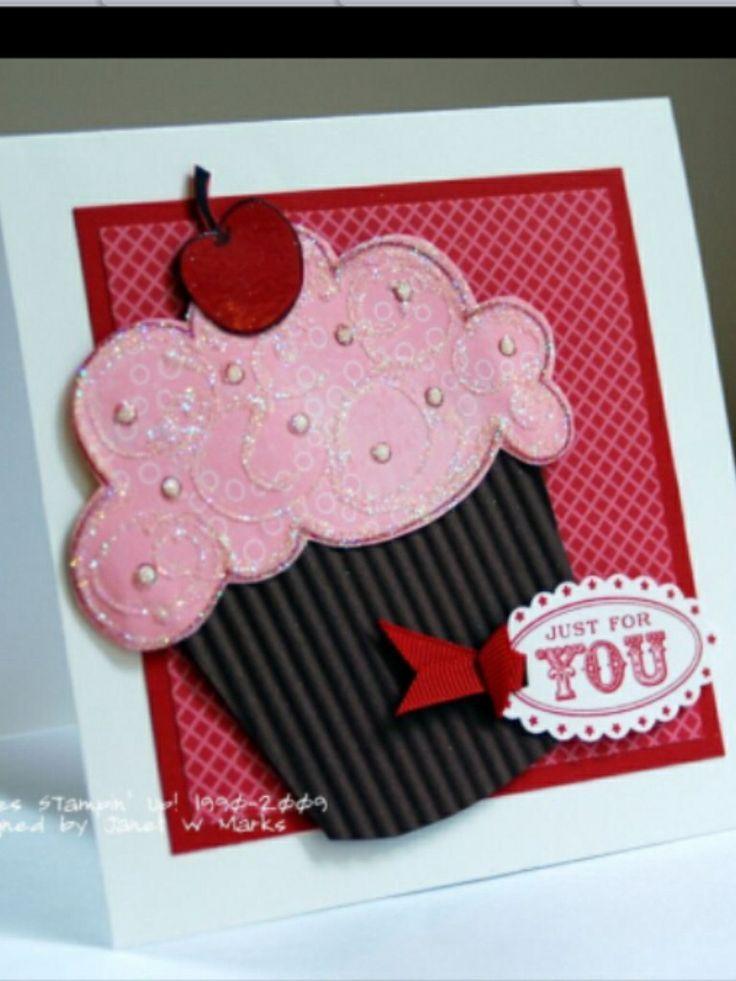 Cupcake Birthday Card Diy Art Pinterest Cupcake Birthday And
