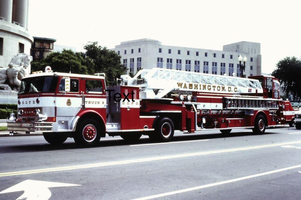 Fire Apparatus Slide Washington DC D C  Fire Dept  Hahn TDA