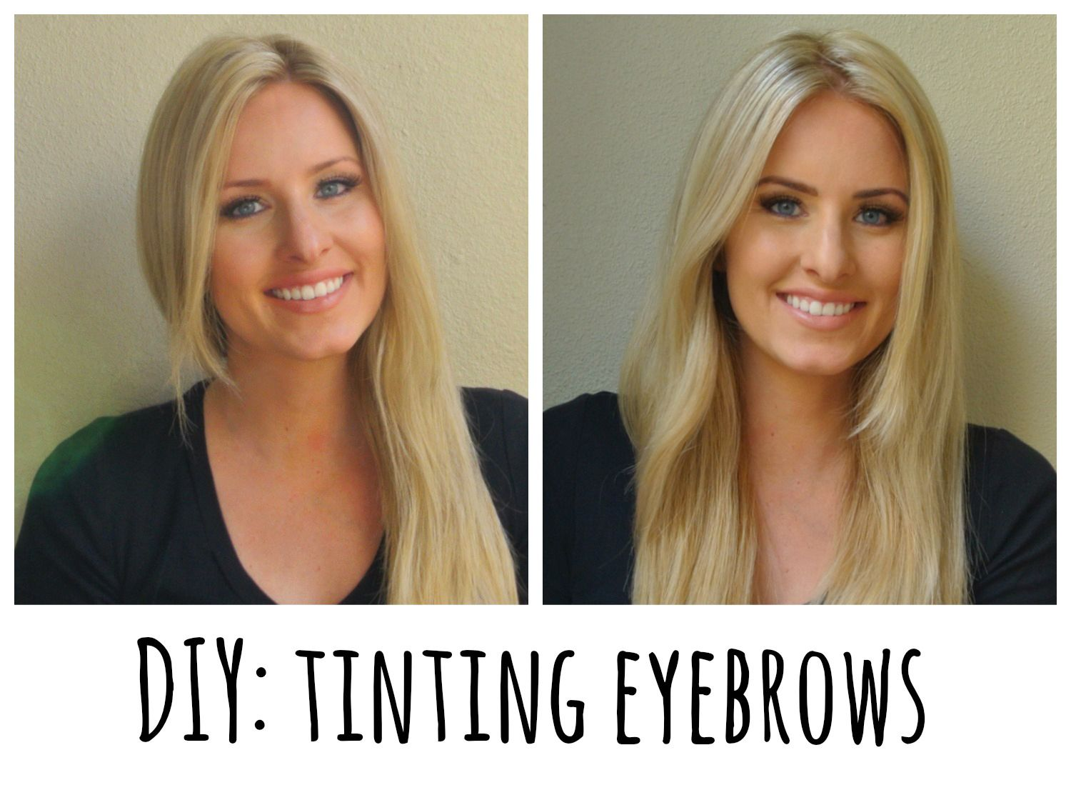 How to dye your eyebrows at home. How is it this easy?!?! Before ...
