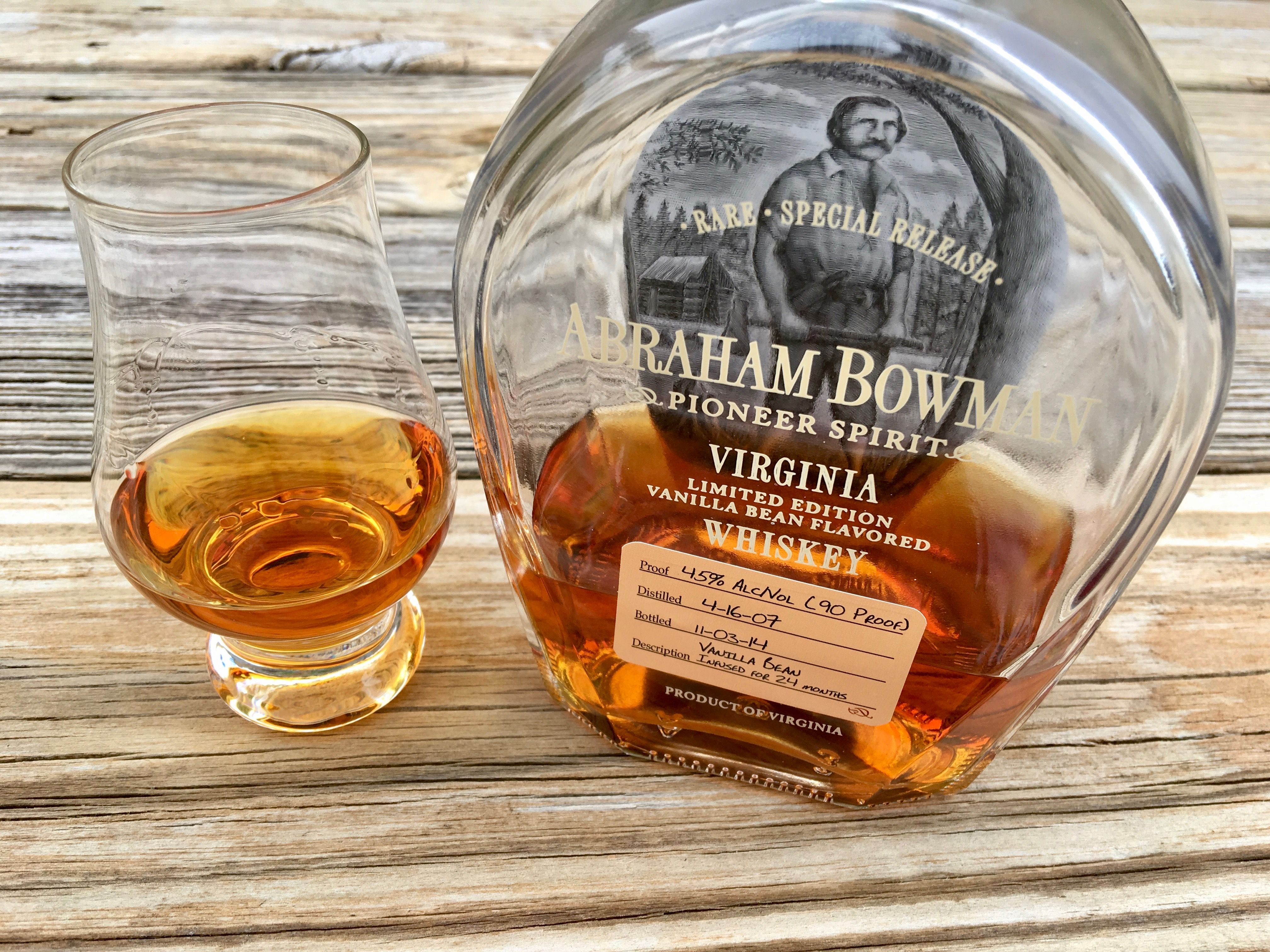 Review #182: Abraham Bowman Vanilla Bean Flavored Whiskey #bourbon #whiskey #whisky #scotch #Kentucky #JimBeam #malt #pappy