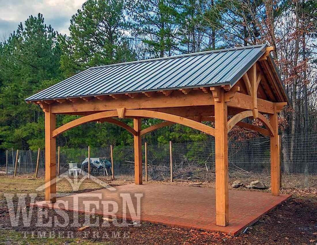 pavilions gazebos gallery pavilions pics gazebo images western timber frame briggscommunitygarden1_16x20os