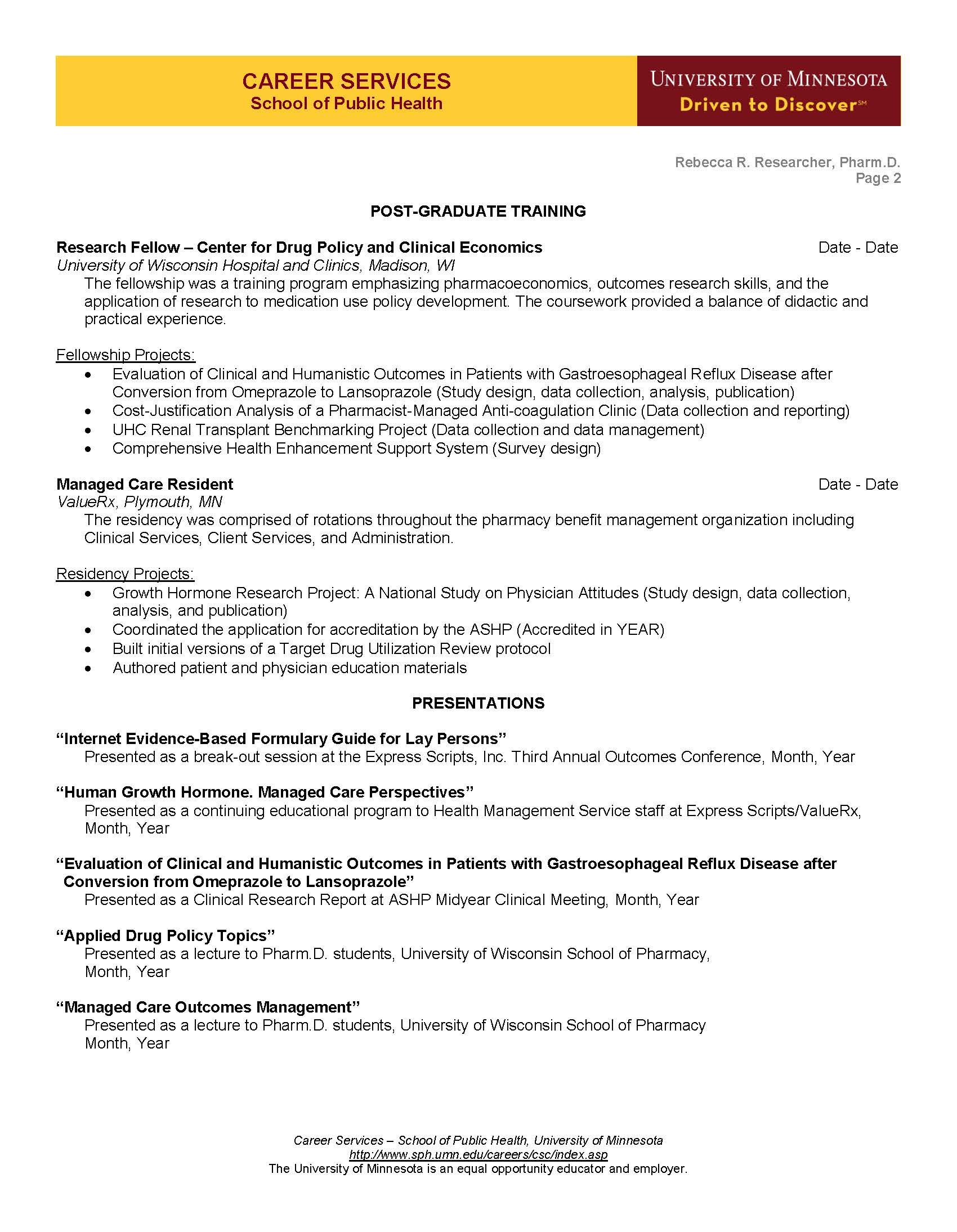Cv Example Page 2 Manager Resume Job Resume Samples Good Resume Examples