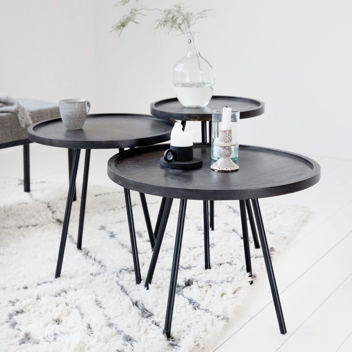 Juco Coffee Table Tafel Woonkamer Eetkamer Zwart Bijzettafel