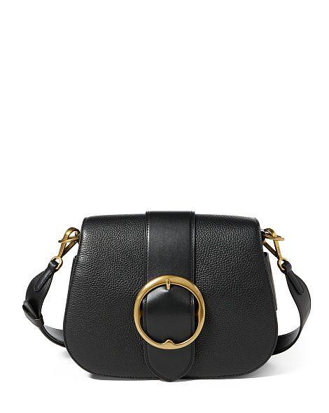 963d7db996 Leather Large Belt Saddle Bag - Polo Ralph Lauren Hobos   Shoulder Bags -  RalphLauren.com