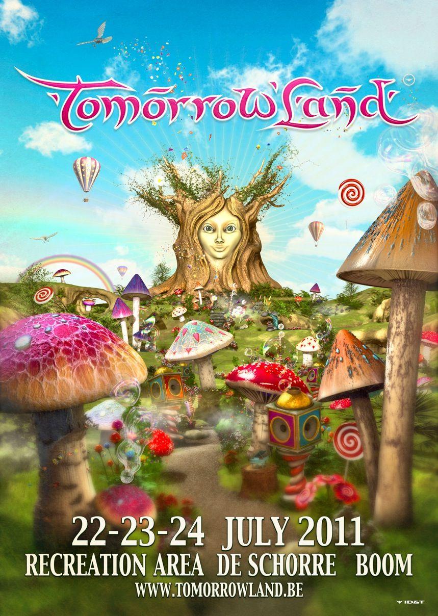 Tomorrowland Promotional Poster Nice Scene Music Festival Poster Tomorrowland Tomorrowland Festival
