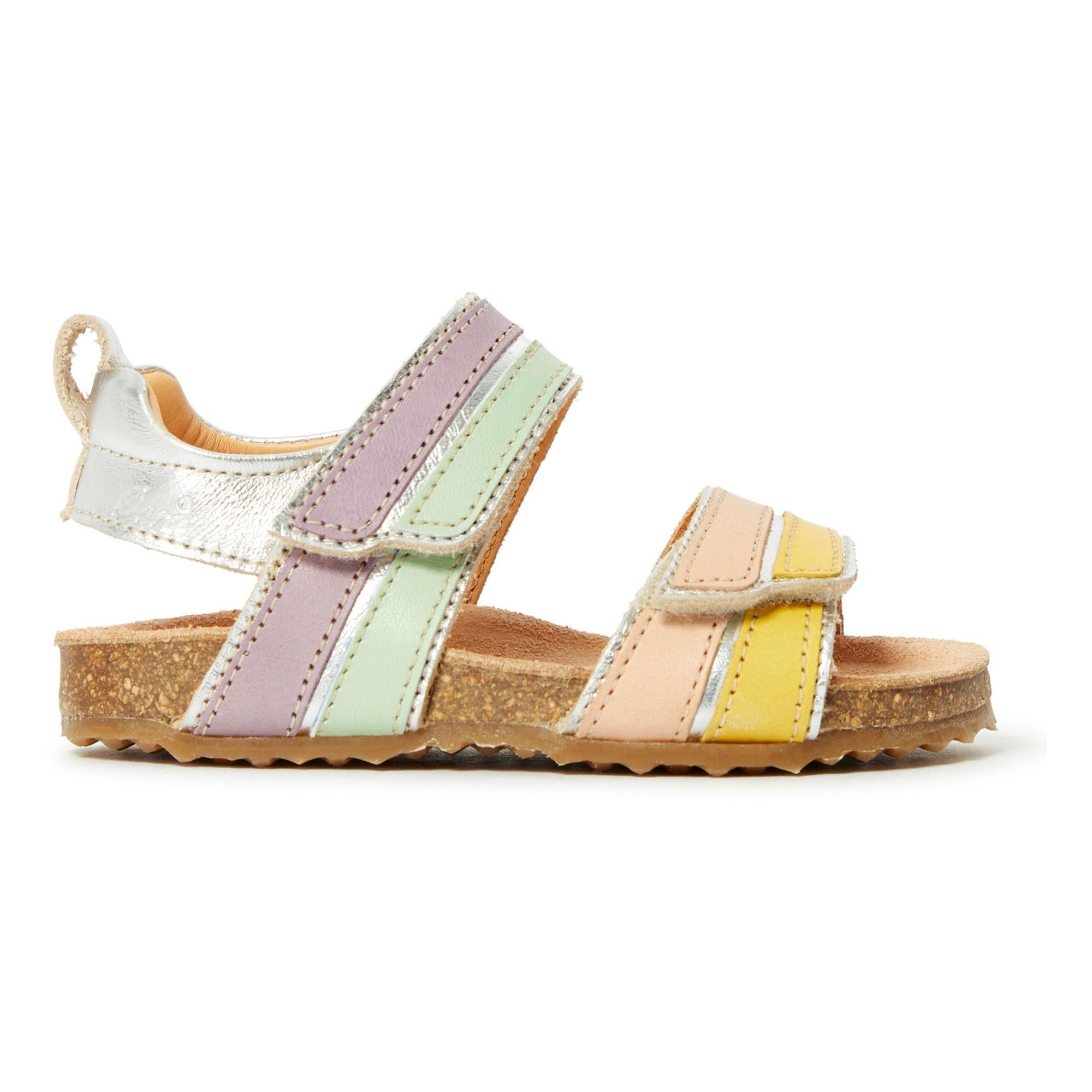 4a8a75ee3e2a4 Velcro Double Sandals Silver | girls sandals | Shoes, Girls sandals ...