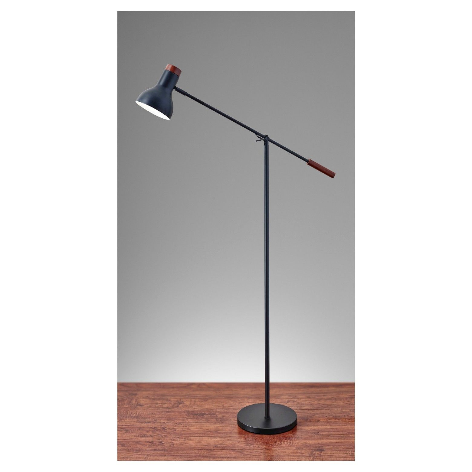 Adesso Watson Floor Lamp Black