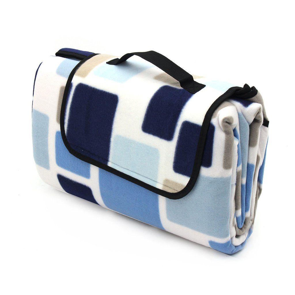 Blu Extra Large Folding Picnic Blanket