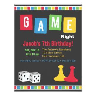 Game Night Invitations Announcements Zazzle Board Game