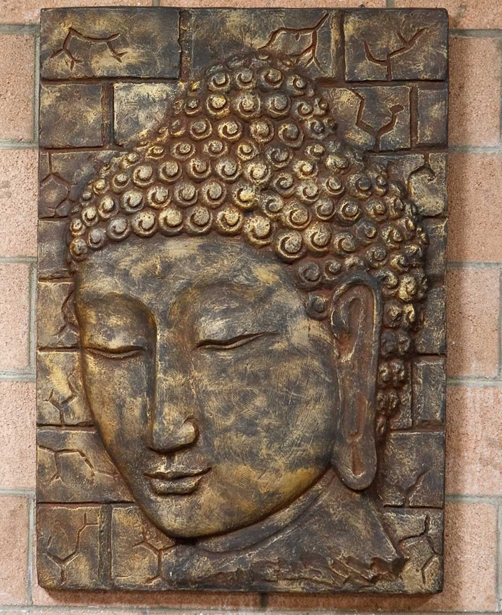 Large Handmade Buddha Wall Panel Wall Art Buddha Art Painting Buddha Art Buddha Wall Decor