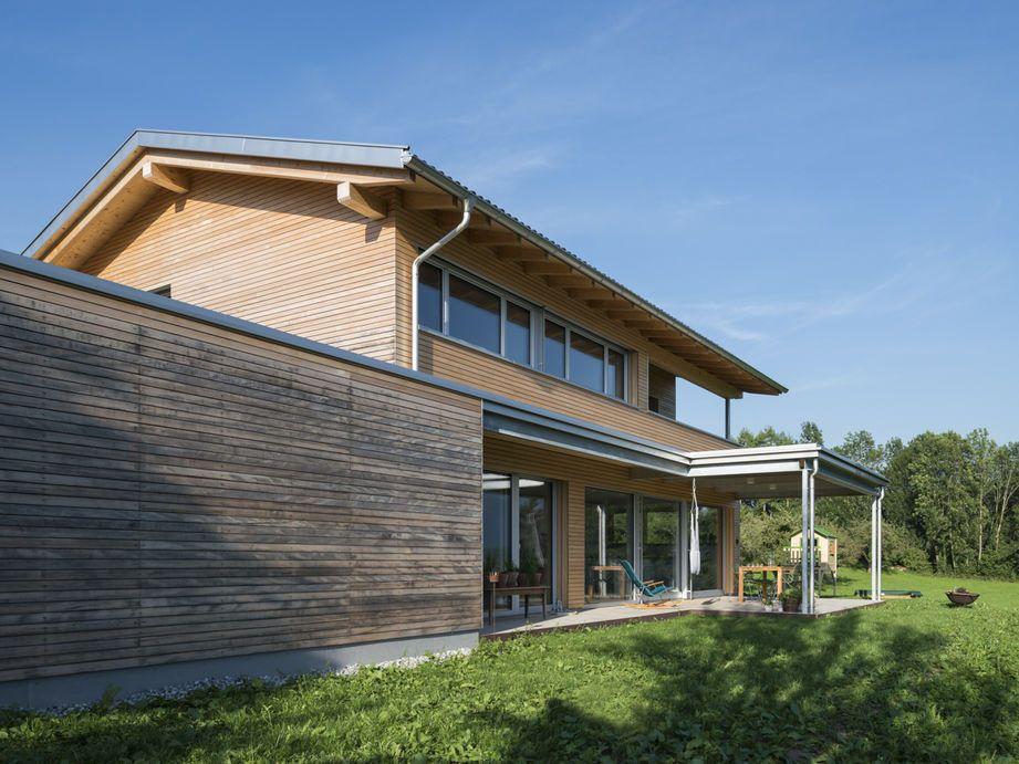 Lieblich Einfamilienhaus# Röns# Modern Holzbau#moderne Architektur# Flachdach#  Satteldach