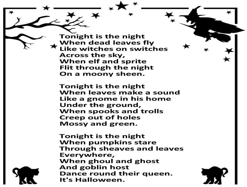 Halloween Poems For Kids | Halloween poems and Poem
