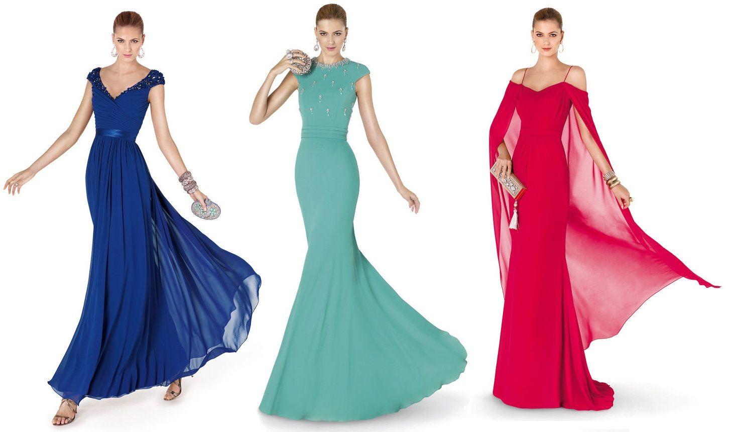 Vestido de fiesta largo de colores – Pronovias 2015 | Wedding ...