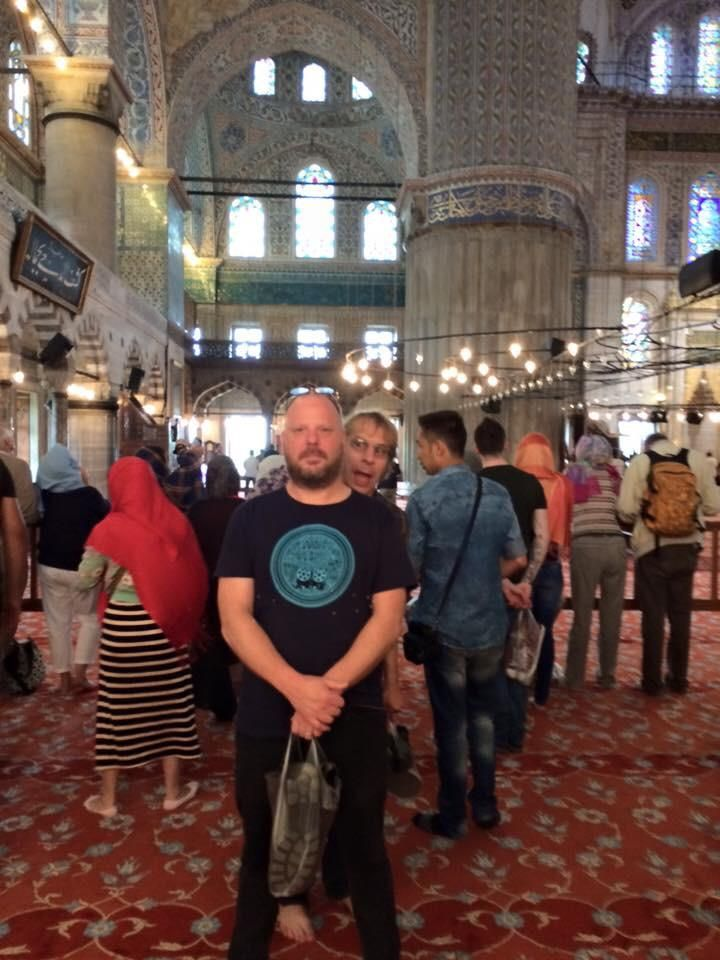 Dan Peters and Mark Arm Blue Mosque, Istanbul.