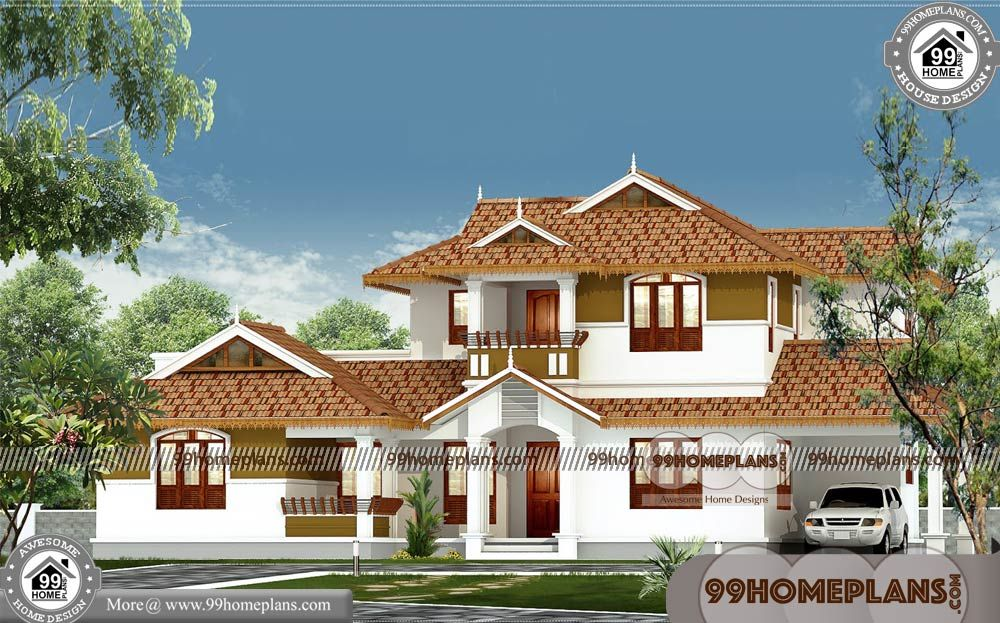 Best Small House Designs In India With Best 2 Storey Homes Design Having 2 Floor 4 Total Best Small House Designs Kerala House Design Traditional House Plans