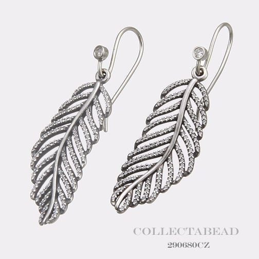 0a7d768b0 Pandora Silver Feather Micro Cubic Zirconia Pave Earring Charms 290680CZ |  The Jewel Hut | Want to wear | Pandora earring charms, Pandora earrings, ...