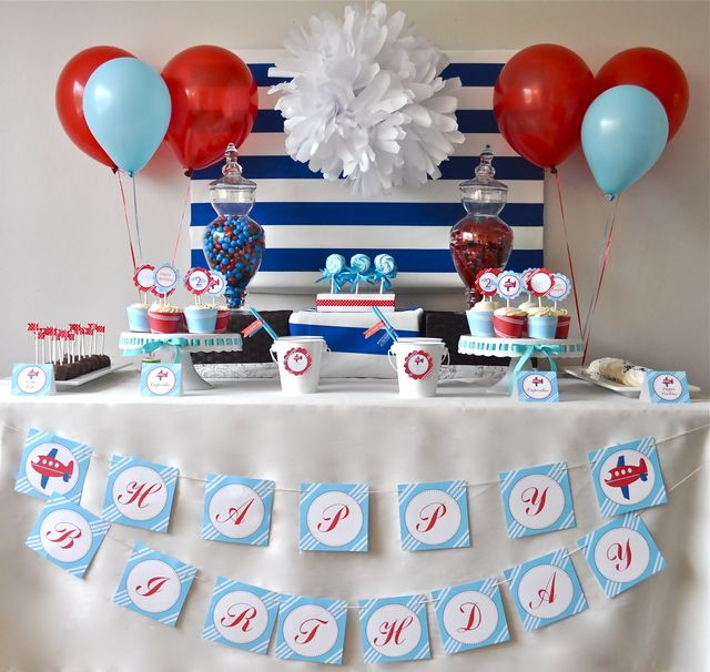 Airplane Birthday Party Ideas Airplane party Airplanes and Birthdays