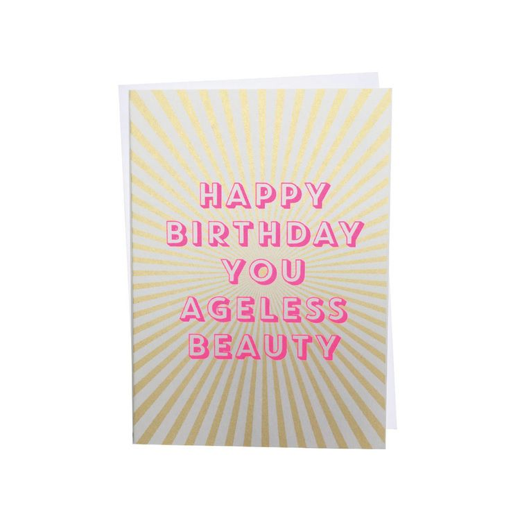 Screen Printed Birthday Card Birthday Pinterest Print Birthday