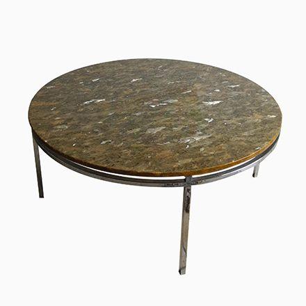 Mid Century Chrom Marmor Couchtisch, 1970er Jetzt Bestellen Unter   Marmor  Wohnzimmer Tische