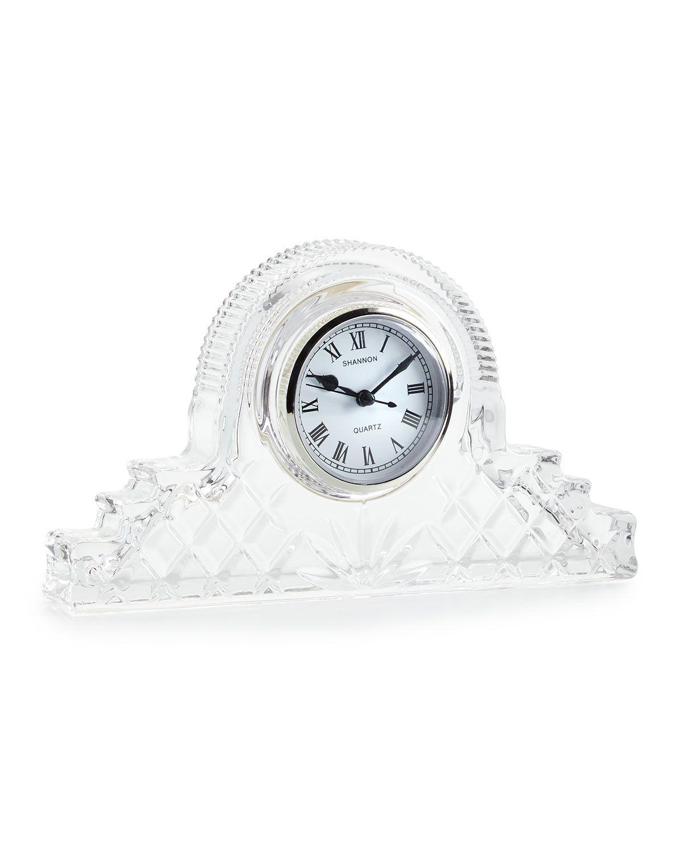 godinger dublin crystal mantle clock