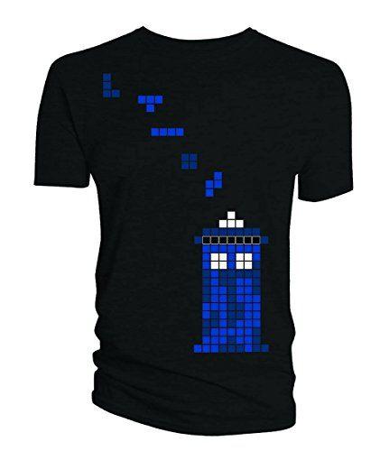 Doctor Who Pixel Tardis Mens Tee (Large) Doctor Who http://www.amazon.com/dp/B00P6I2RR0/ref=cm_sw_r_pi_dp_Z4wMwb0GHBBP4