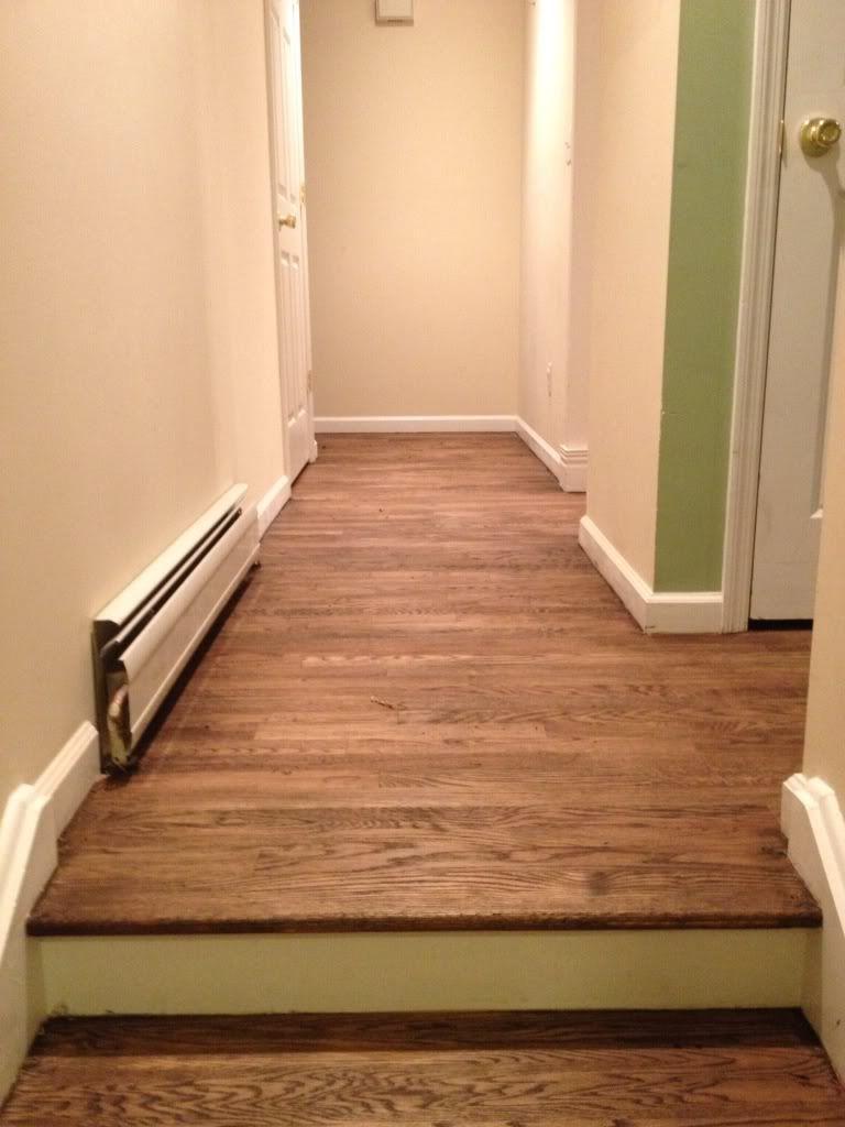 Single Coat Jacobean On Red Oak Floors Basement Remodeling Finishing Basement Floor Remodel