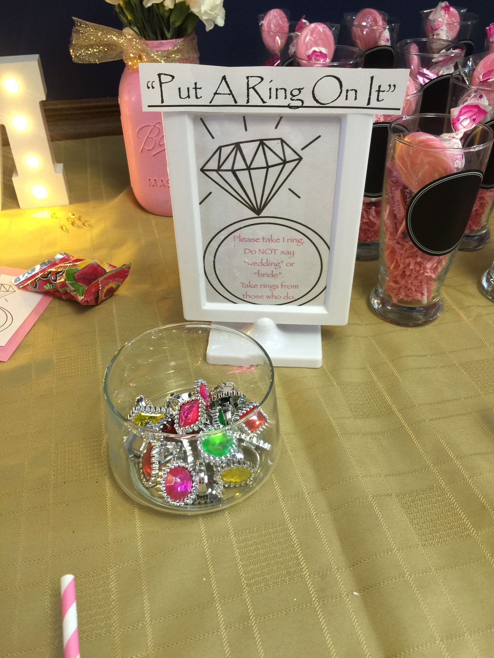 Pinterest wedding shower -  Put A Ring On It Bridal Shower Game