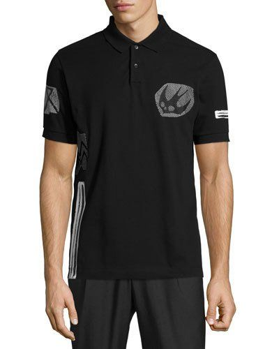 Mcq By Alexander Mcqueen Bird Logo Graphic Short Sleeve Polo Shirt