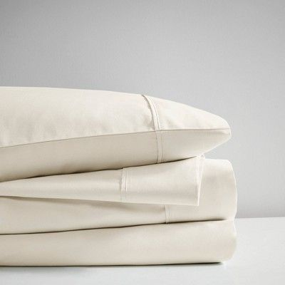 California King 600 Thread Count Cooling Cotton Sheet Set Ivory Cotton Sheet Sets Sateen Sheets Sheet Sets