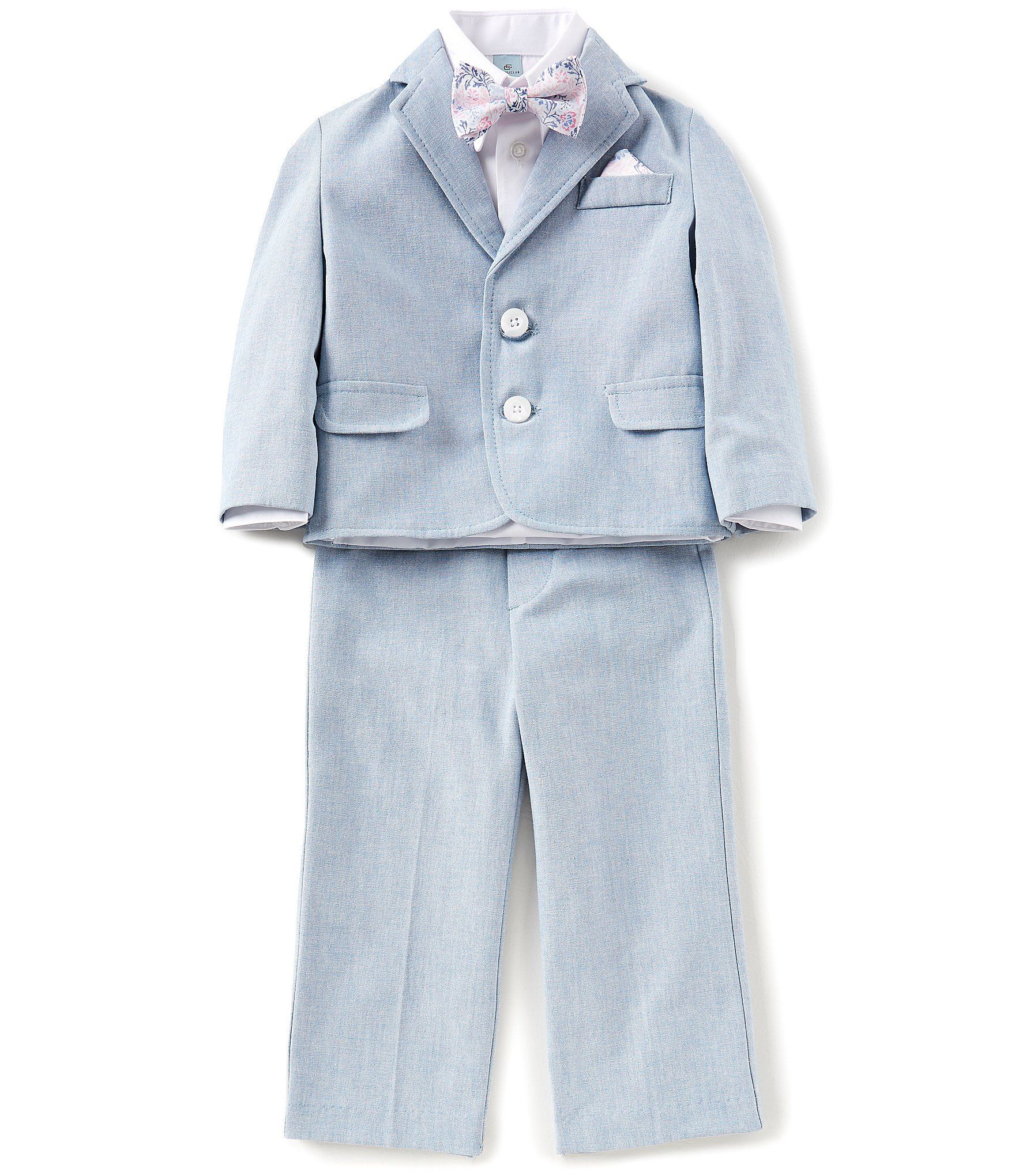Dusty Blue ring bearer suit baptism christening outfit - Class Club ...