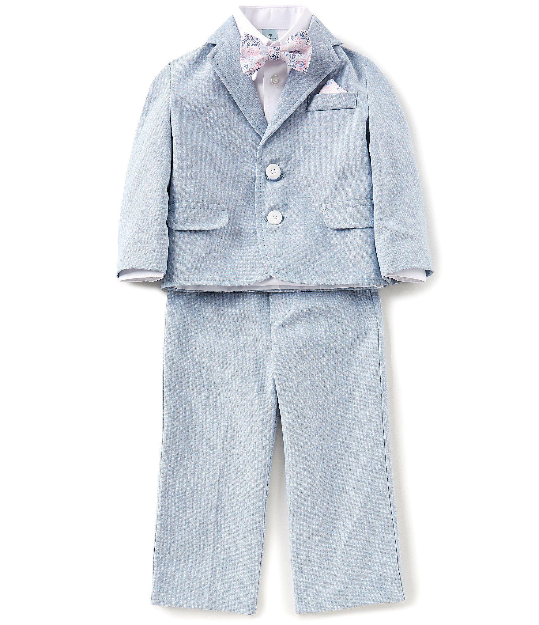 ec9112abf7ba Dusty Blue ring bearer suit baptism christening outfit - Class Club Little Boys  2T-7