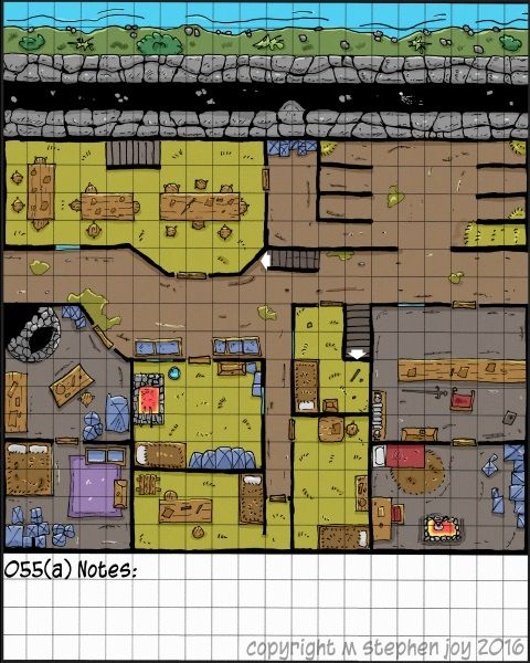 Foto: Map_a_Day_055(a)_North_Wall. #Dnd #RPG #DungeonsAndDragons #Pathfinder