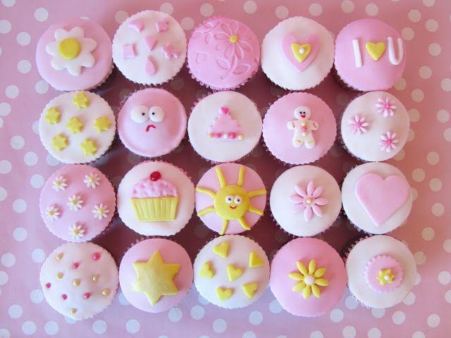 Postreadicción galletas decoradas, cupcakes y pops: Cupcakes de fondant