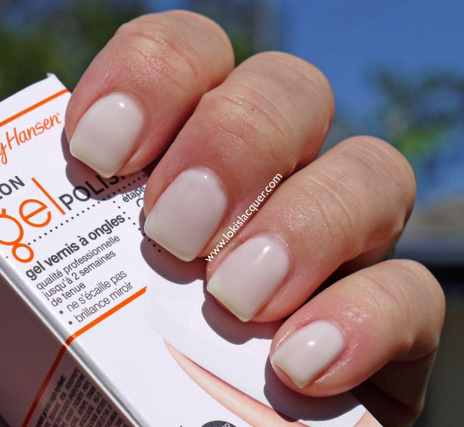 sally hansen salon gel polish white away | nails | pinterest