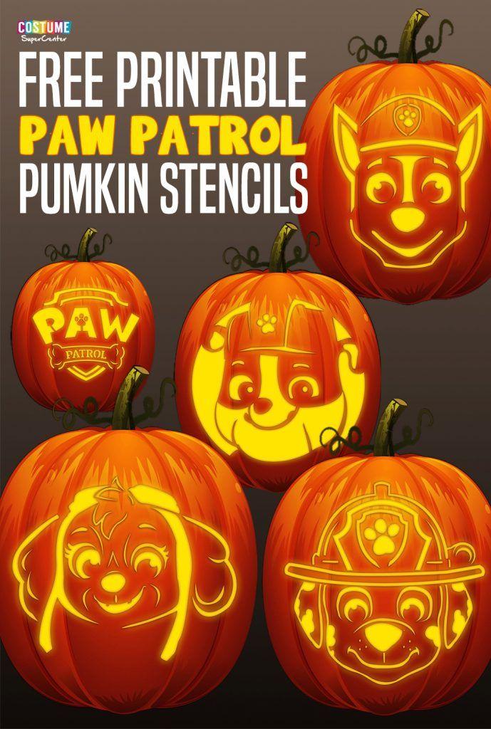 FREE Paw Patrol Pumpkin Stencils