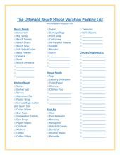 The Ultimate Beach House Vacation Packing List #ultimatepackinglist