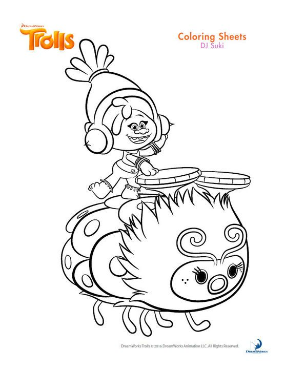 Dreamworks Trolls Coloring Book Printables Poppy Coloring Page Cartoon Coloring Pages Disney Coloring Pages