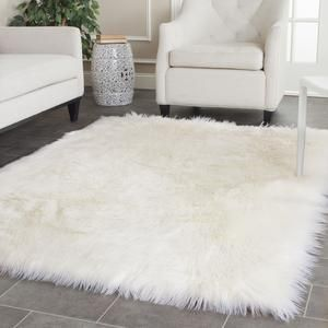 Fss115a | White faux fur rug, Fur and Bedrooms